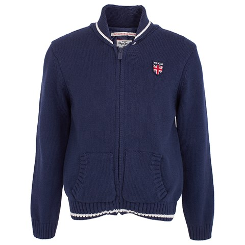 Pepe Jeans Navy Cardigan with Detachable Lining