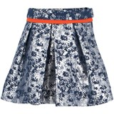 Preen Mini Metallic Blue Floral Skirt