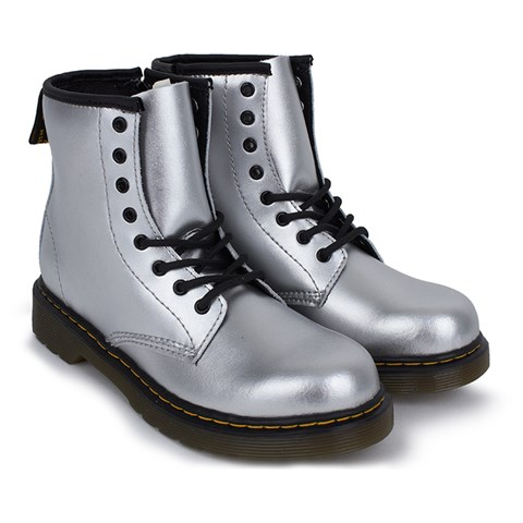 Dr. Martens Metallic Silver Brooklee Boot  ebd1c45466b4