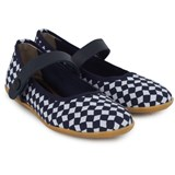 Marni Navy Geo Patterned Mary Janes