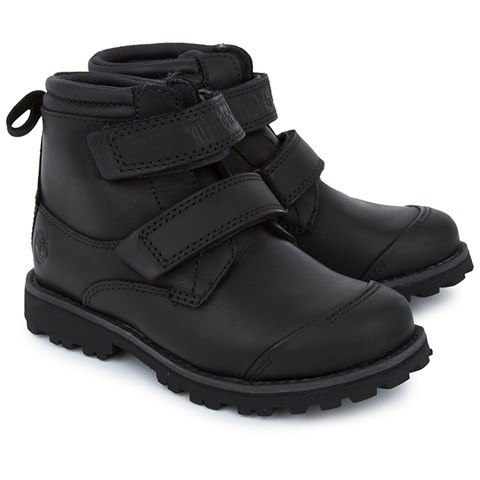 Timberland Kids Black Leather Boot