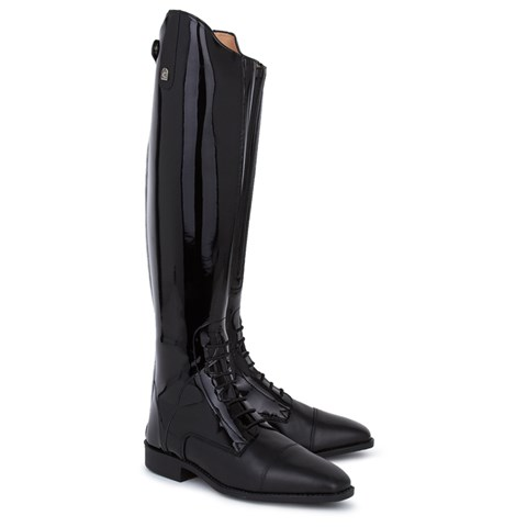 Patent Junior Jump Edition Laced Riding Boots