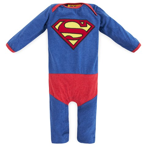 Fabric Flavours Blue Superman Footless Babygrow