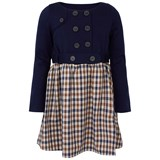 Aquascutum Navy and Check Dress