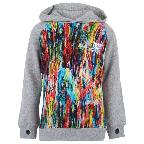 Munster Kids Grey and Multi Colour Hoodie