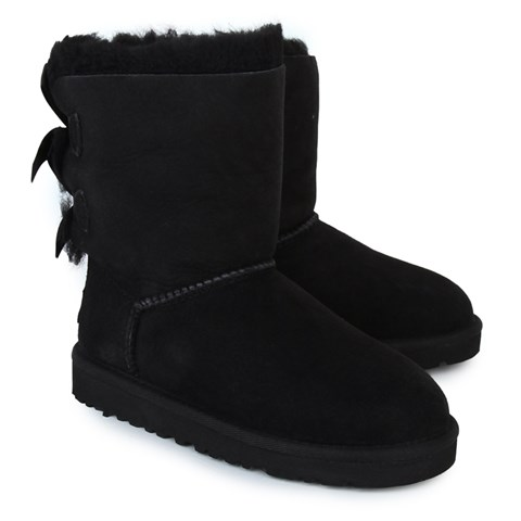 UGG Black Bailey Bow Suede Boots