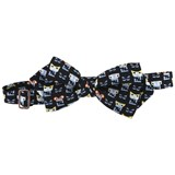 Fendi Navy Monster Print Bow Tie