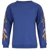 Anne Kurris Blue Embroidered Sweatshirt