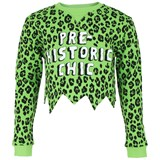Moschino Green Cropped Sweatshirt