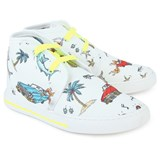 Stella McCartney Kids High Top Canvas Trainers with 50s Print
