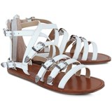Ash Shoes White Leather Sandals
