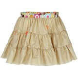Pate de Sable Gold Festival Plume Tiered Skirt