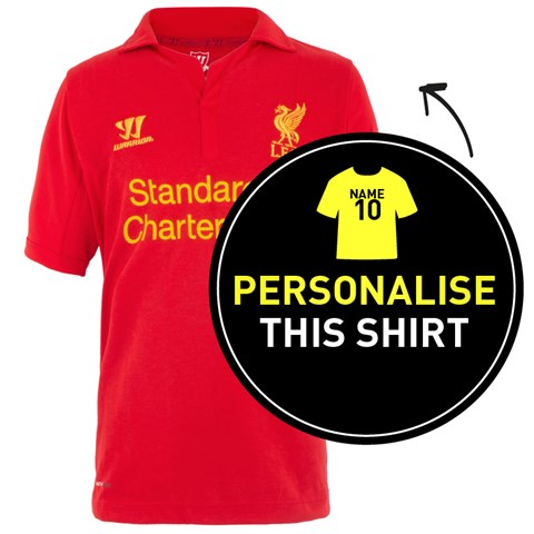 4d1f99fa1 Liverpool FC Personalised Official Home Shirt 2012 13