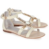 Miss Blumarine Leather Starfish and Gem Sandals