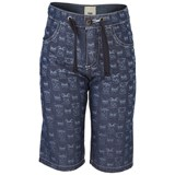 Fendi Monsters Print Lightweight Chambray Shorts
