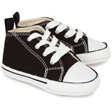 Converse Black First All Star Crib Shoes