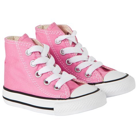Pink Chuck Taylor All Star Hi Top Trainers