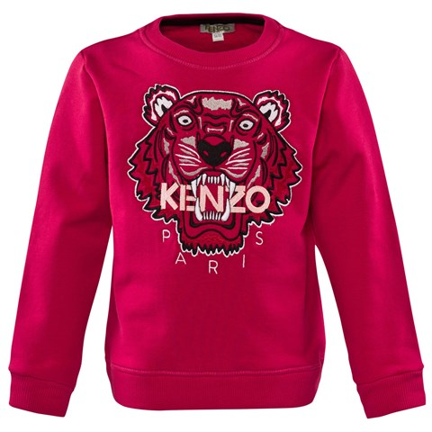 Fuchsia Embroidered Tiger Sweatshirt