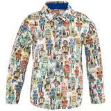 Paul Smith Junior Off White Robot Print Shirt