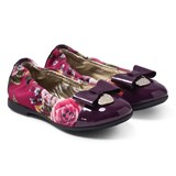 Monnalisa Floral And Patent Ballet Pump