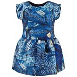 Junior Gaultier Blue Patchwork Denim Dress