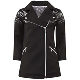 Junior Gaultier Black Quilted Wool Coat