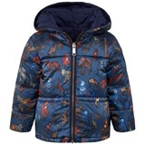 Paul Smith Junior Navy and Animal Print Reversible Puffer