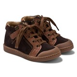 10 IS Brown Suede and Leather Hi-Tops