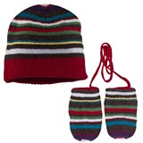 Paul Smith Junior Stripe Beanie Hat And Mitten Set
