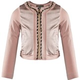 Microbe by Miss Grant Pale Pink Jersey And Metallic Jacket