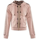 Miss Grant Pale Pink Diamante Detail Hoodie