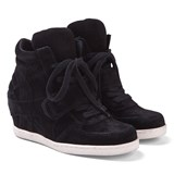 Ash Shoes Black Babe Wedge Hi Tops