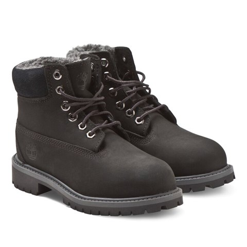 Timberland Kids Black Classic Lace Boots