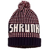 Scotch Shrunk Red, Navy And White Knit Bobble Hat