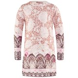Miss Blumarine Pink Lace Print Knit Dress