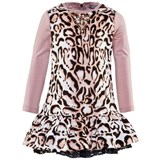 Microbe by Miss Grant Pale Pink Leopard Print Jersey Dress