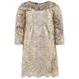 Miss Grant Gold Lace Overlay Dress With Beading