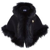 Bandits Girl Black Faux Fur Cape