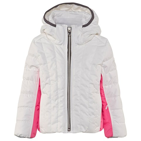 White and Pink Infant Sporty Ski Jacket