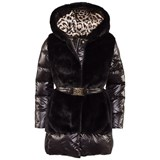 Roberto Cavalli Black Quilted Hooded Jacket