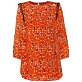 Fendi Orange Logo Print Dress