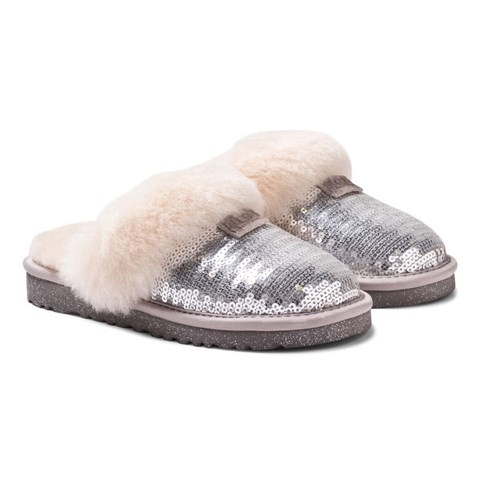 UGG Dazzle Silver Sequin Slippers