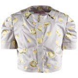 Miss Blumarine Cropped Floral Jacket