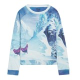 Little Eleven Paris Blue Frozen Anna Sweatshirt