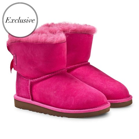 UGG Exclusive Hot Pink Mini Bailey Bow Boots