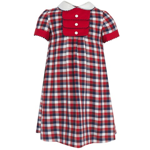 Torres Red, White & Blue Check Dress