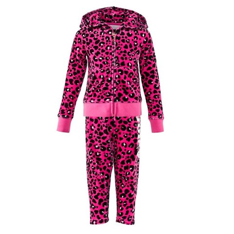 Hot Pink and Black Leopard Jewelled Tracksuit