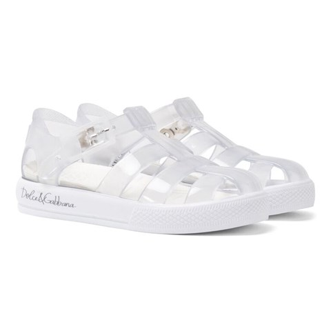 Dolce & Gabbana Transparent Branded Jelly Shoes
