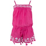 Melissa Odabash Hot Pink and Off White Playsuit