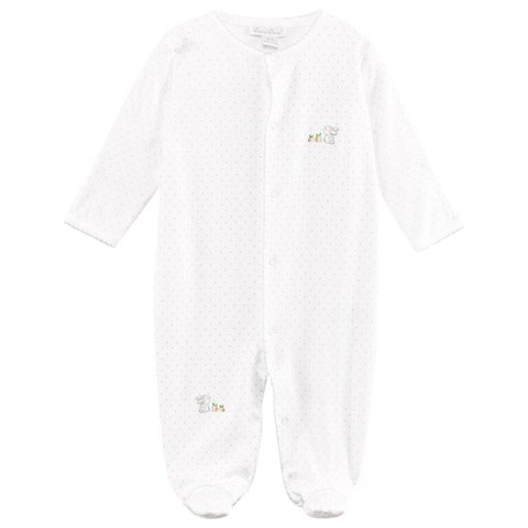 Kissy Kissy White Spot Bunny Embroidered Babygrow